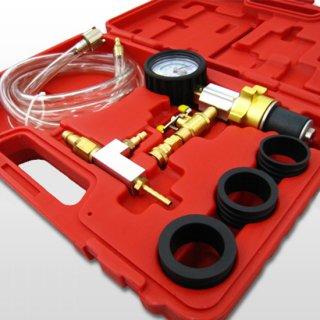 クーラントチャージャーキット エアー式 クーラント 真空引き LLC注入 エアー抜き 冷却水 クーラント交換 工具 ホース アダプター付き