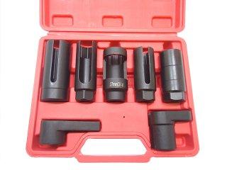 O2センサーソケット オーツーセンサーソケット バキュームスイッチソケット オイルプレッシャースイッチソケット ディーゼルインジェクターソケット 7pc センサーソケットレンチセット