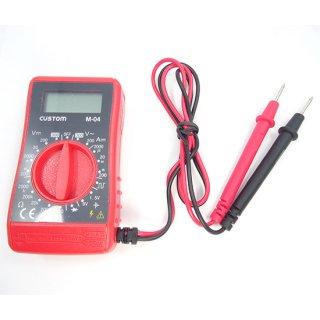 カスタム CUSTOM デジタルテスター M-04 日本語取説付 直流電圧測定 交流電圧測定 抵抗測定 ダイオードチェック バッテリーチェック 他