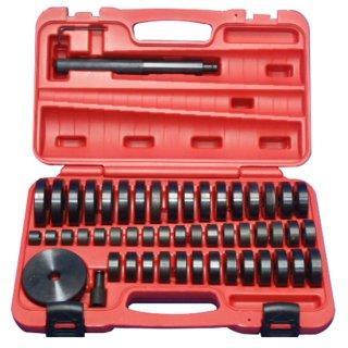 油圧プレス用アダプターセット オイルシール ブッシュ ベアリングの圧入工具 油圧プレス アタッチメント 18mm-74mm(49サイズ)
