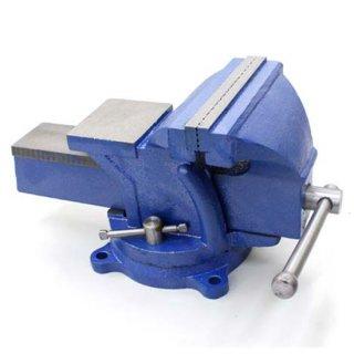 回転台付きバイス 150mm 強力バイス ベンチバイス 万力 360度 ボルト固定可能 リードバイス