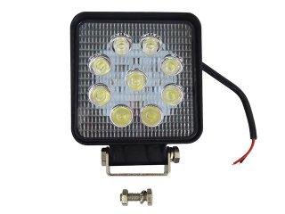 27W LEDワークライト 12V / 24V兼用 車外灯 広角タイプ 作業灯 防水仕様 アルミボディ トラック 荷台灯 スポットライト