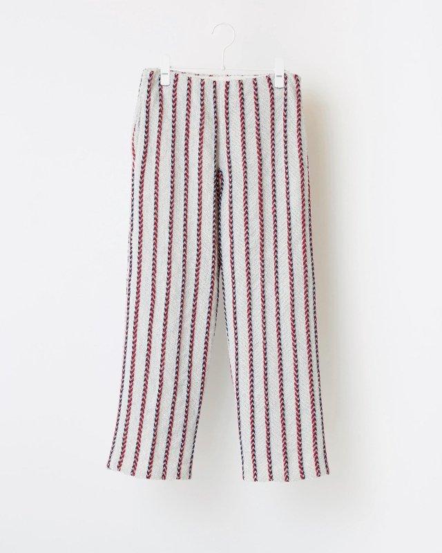 CLUB STRIPE TWEED PANTS