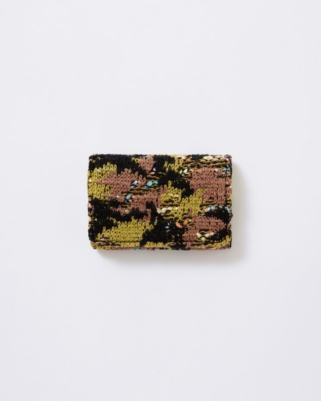 CL001 KNIT TWEED CARD CASE CAMOUFLAGE TWEED