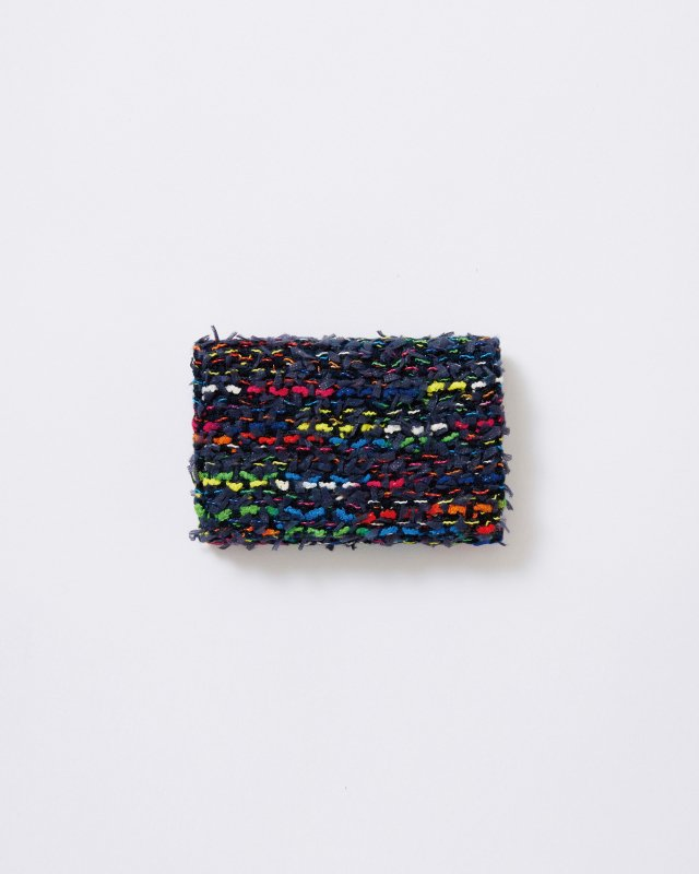 KNIT TWEED CARD CASE - COOHEM TWEED