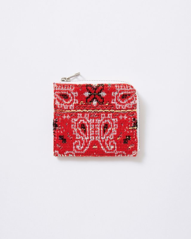 KNIT TWEED WALLET MEDIUM - BANDANA JAQUARD