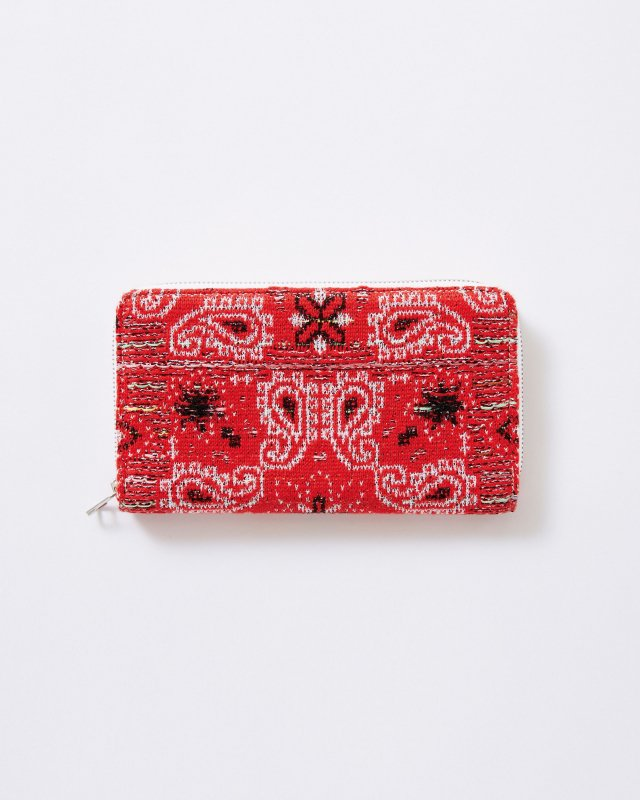 KNIT TWEED WALLET LARGE - BANDANA JAQUARD