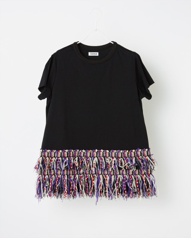 ETHNIC TWEED T-SHIRT (FRINGE)