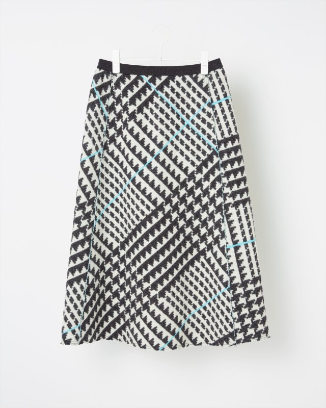 GLEN CHECK JACQUARD SKIRT