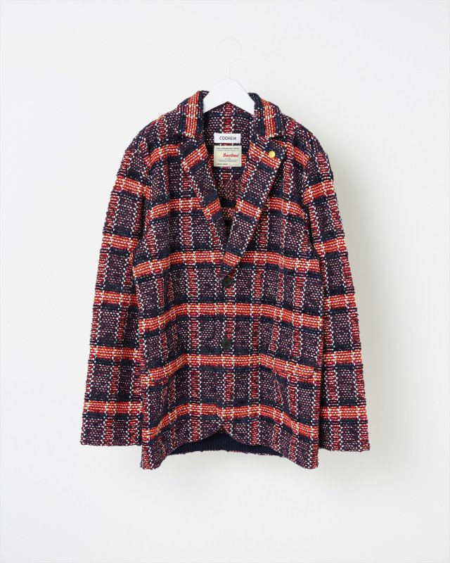 TARTAN CHECK TWEED JACKET
