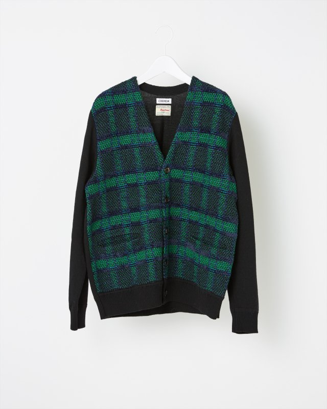TARTAN CHECK TWEED CARDIGAN