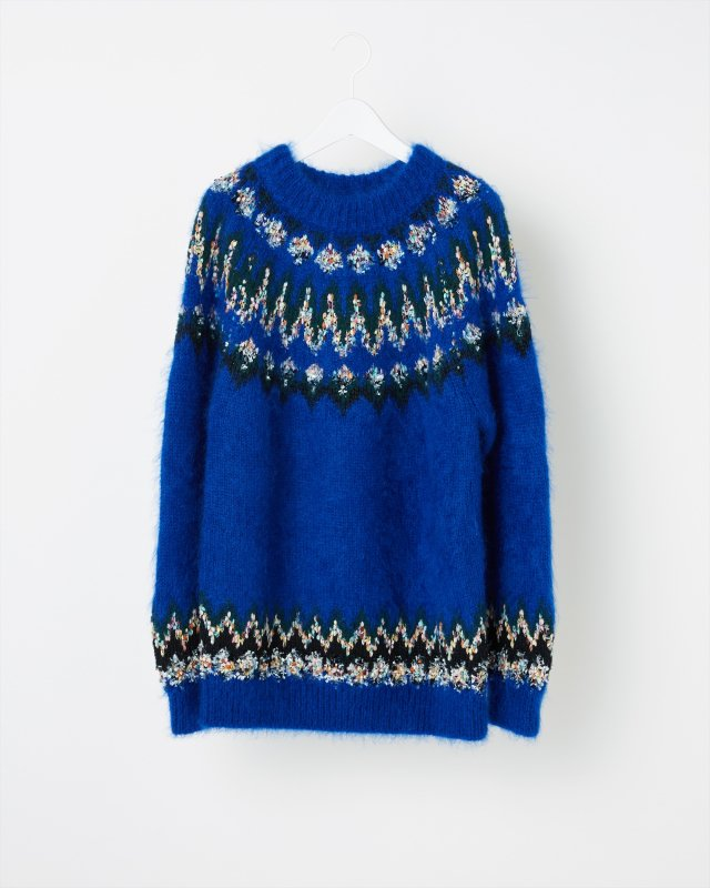 MOHAIR NORDIC KNIT SWEATER