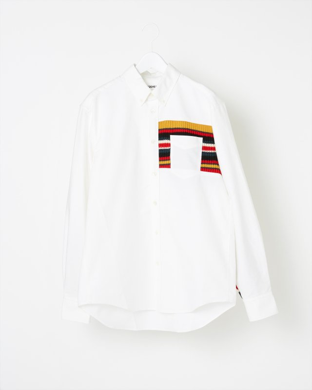 MULTI BORDER RIB KNIT SHIRT