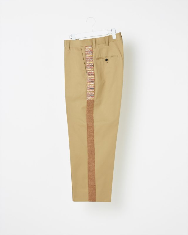 TWEED SIDE LINE CHINO PANTS