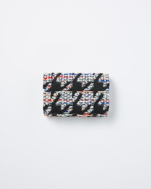 KNIT TWEED CARD CASE - HOUNDSTOOTH TWEED