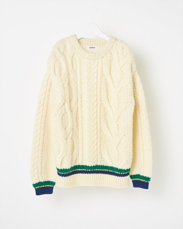SUPER BIG ARAN SWEATER