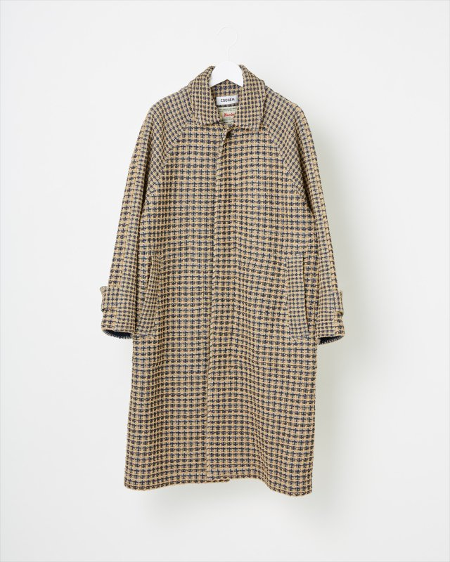 SPRING CHECK TWEED COAT