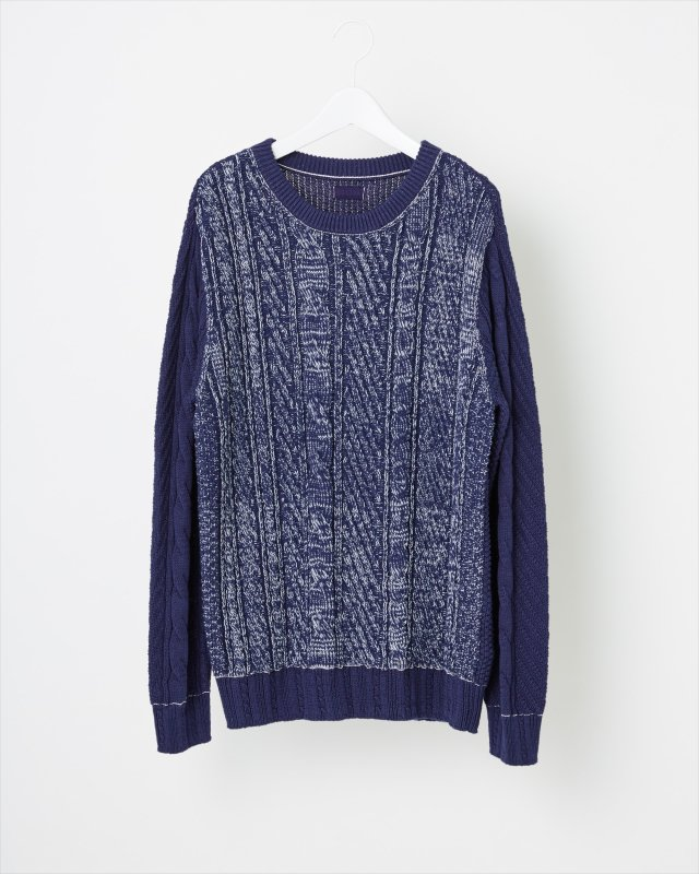 COTTON GRADATION SWEATER