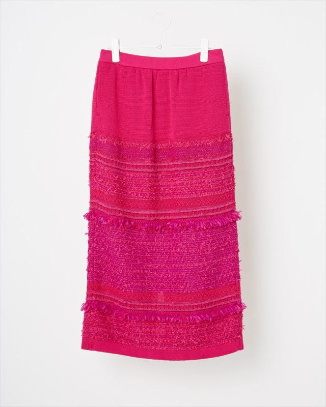 SOLID TWEEDY KNIT SKIRT