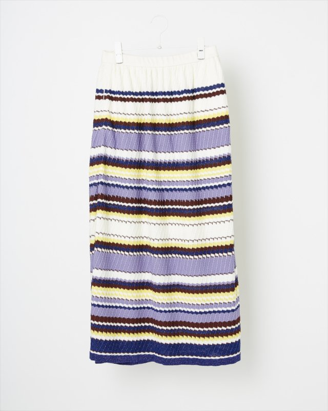 GRITTER RIB KNIT SKIRT