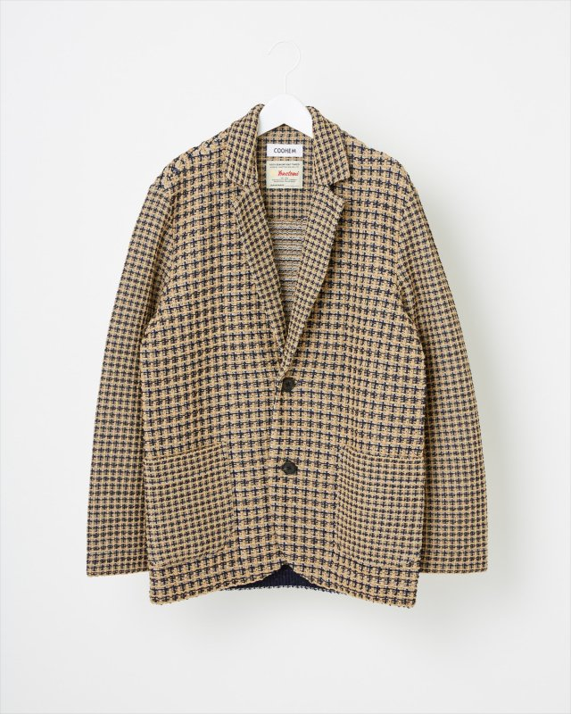 SPRING CHECK TWEED JACKET