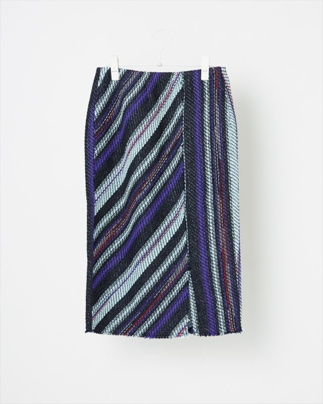 SUMMER STRIPE TWEED SKIRT