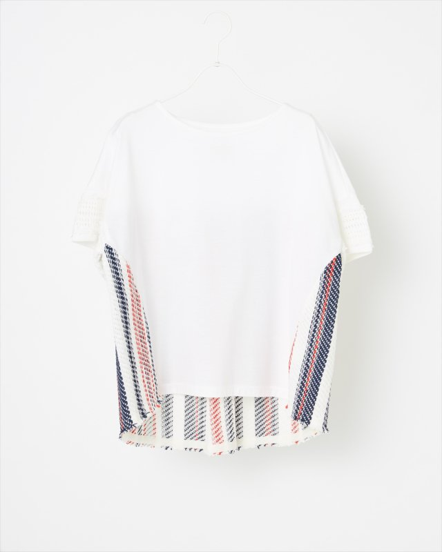 SUMMER STRIPE TWEED T-SHIRT