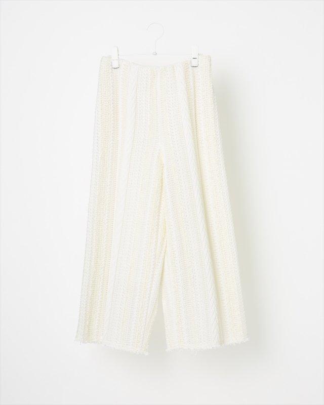 SUMMER SOLID TWEED PANTS