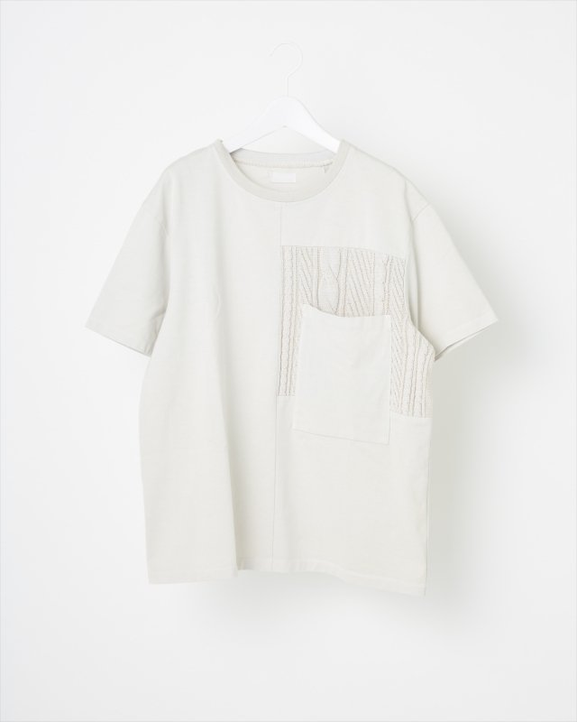 COTTON GRADATION KNIT T-SHIRT