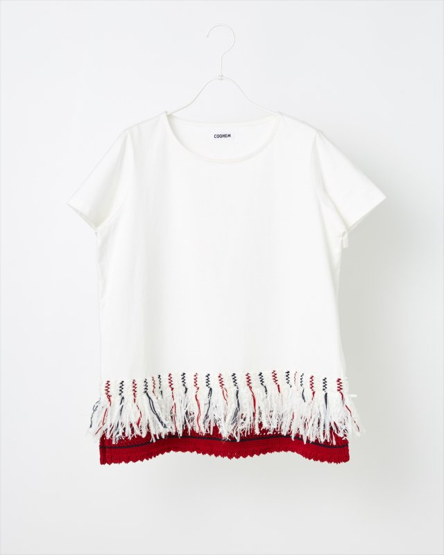 SAILOR TWEED FRINGE T-SHIRT