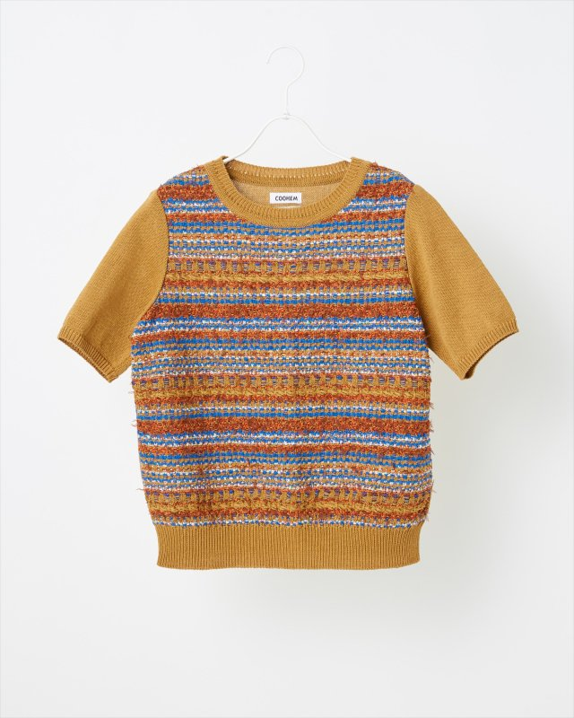 AUTUMN MIX TWEED PULLOVER
