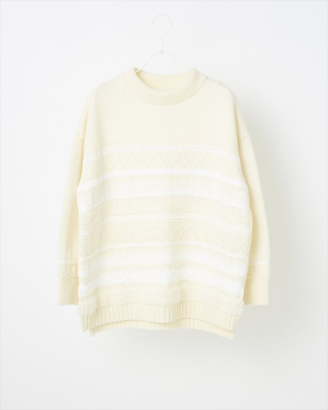 SOLID TWEEDY KNIT PULLOVER
