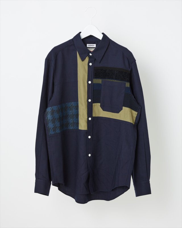 TWEED PATCHWORK SHIRT