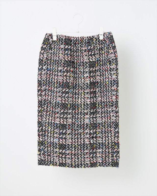 AUTUMN CHECK TWEED SKIRT