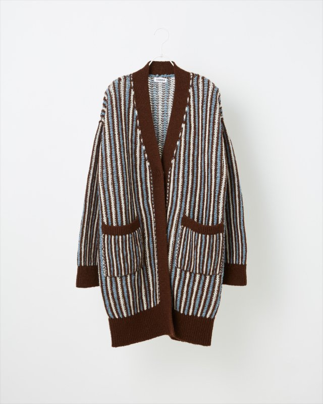 IVY STRIPE KNIT CARDIGAN