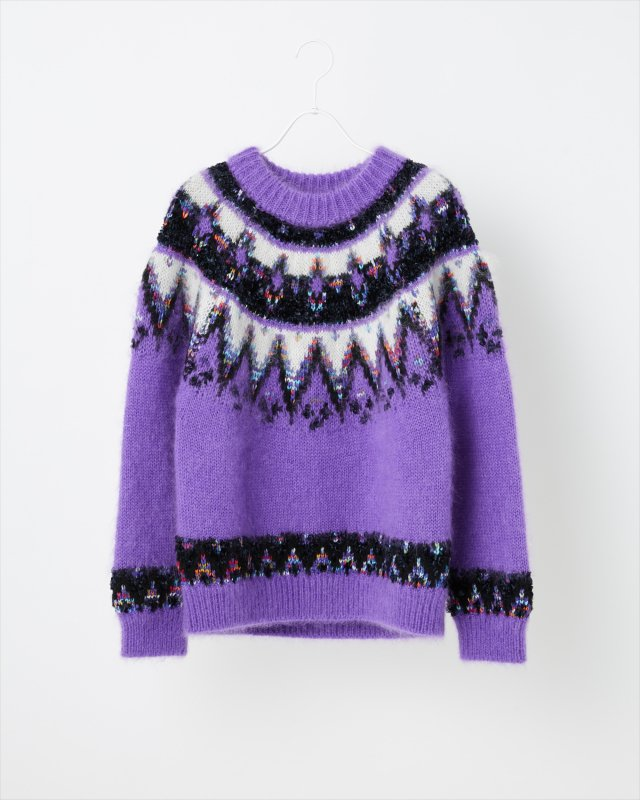 MOHAIR NORDIC KNIT SWEATER for WOMEN【ONLINE STORE限定カラー】