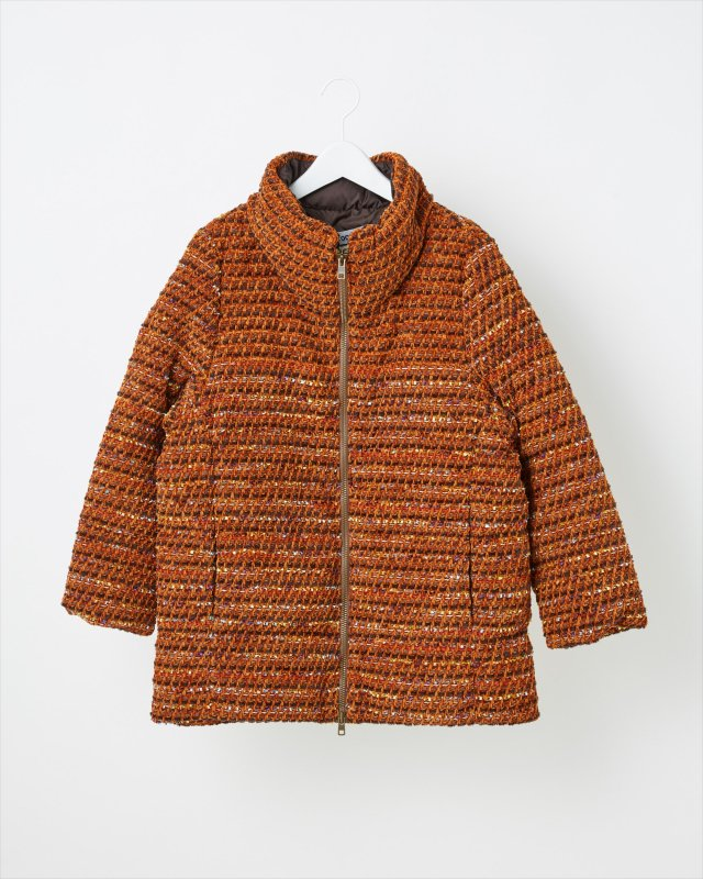 VELVET TWEED DOWN JACKET