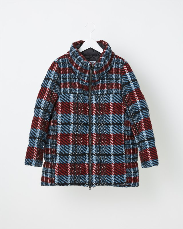 VINTAGE CHECK TWEED DOWN JACKET