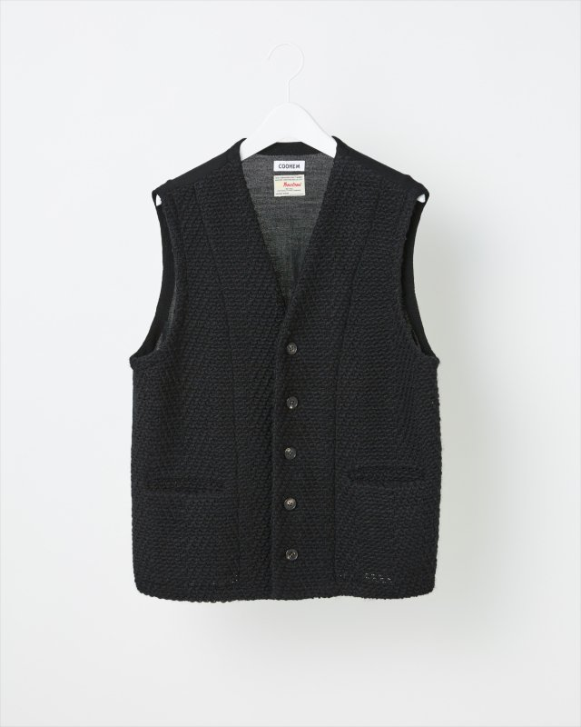 SHADOW HERRINGBONE TWEED VEST