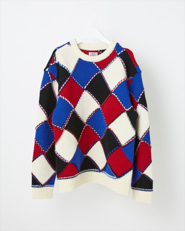MODERN ARGYLE KNIT SWEATER for MEN
