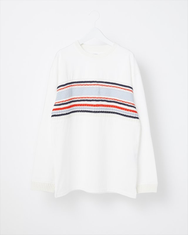 CLUB STRIPE KNIT LONG SLEEVE T-SHIRT
