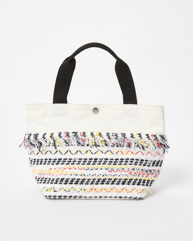 CL013 FRINGE TOTE BAG 【WHITE】