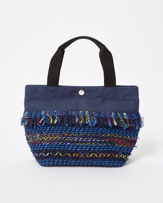 CL013 FRINGE TOTE BAG 【NAVY】