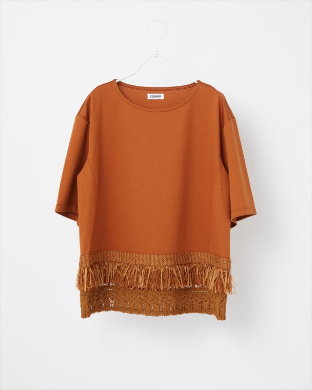 KNIT DETAIL T-SHIRT