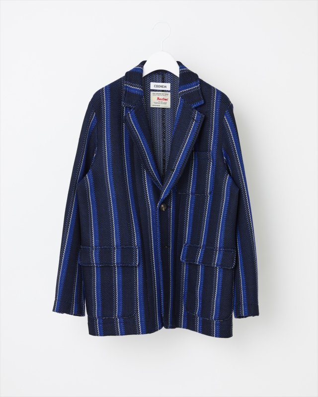 BLAZER TECH STRIPE TWEED JACKET