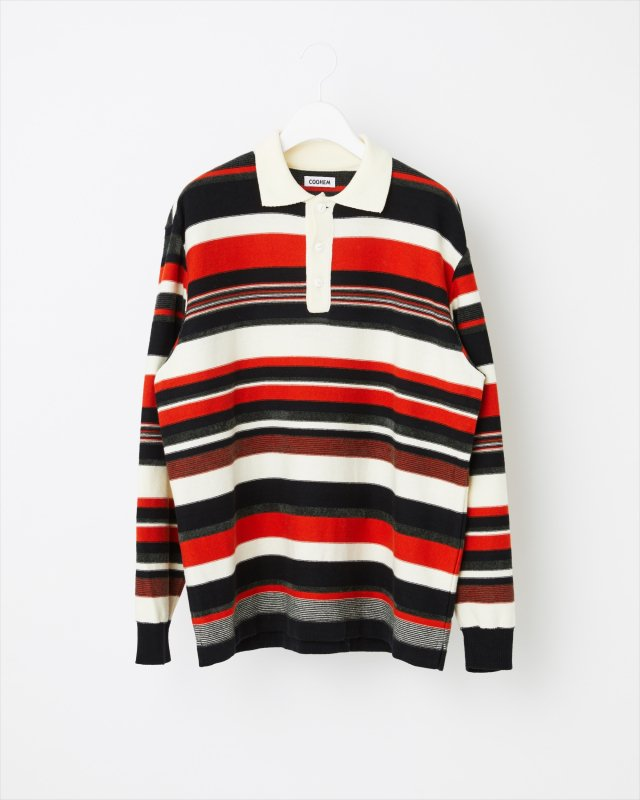 AUTUMN MULTI COLOR KNIT POLO-SHIRT
