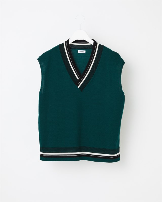 FINE WOOL TECH KNIT VEST