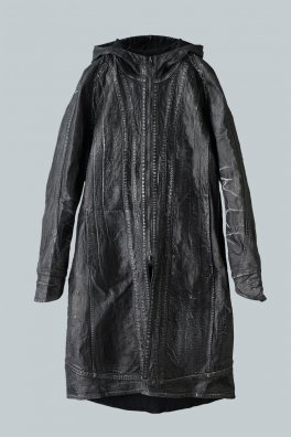 <img class='new_mark_img1' src='//img.shop-pro.jp/img/new/icons8.gif' style='border:none;display:inline;margin:0px;padding:0px;width:auto;' />Fagassent MODS Leather Coating Black Stretch Denim Coat