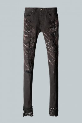 <img class='new_mark_img1' src='//img.shop-pro.jp/img/new/icons8.gif' style='border:none;display:inline;margin:0px;padding:0px;width:auto;' />Fagassent BLACK ROUGE STRETCH DENIM PANTS -PHANTOM-