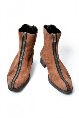 <img class='new_mark_img1' src='//img.shop-pro.jp/img/new/icons8.gif' style='border:none;display:inline;margin:0px;padding:0px;width:auto;' />Fagassent COW SUEDE LEATHER F/B ZIP BOOTS -SPLIT- BROWN